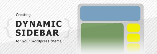 Post image of Creating Dynamic Sidebars (widget-ready theme) in WordPress