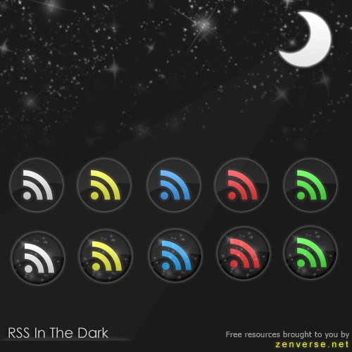 Free RSS Icon Pack : RSS In The Dark