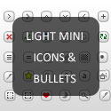 Post Thumbnail of Light Mini Icons & Bullets for Various Uses (Include PSD and PNG)