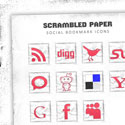 Post Thumbnail of Scrambled Paper Social Bookmark Icons