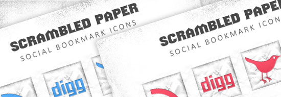 Post image of Scrambled Paper Social Bookmark Icons