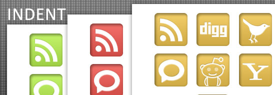 Post image of Indent – Free Social Bookmark Icons