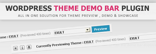 Post image of WordPress Theme Demo Bar Plugin • All-in-one Solution for Theme Demo, Preview and Showcase