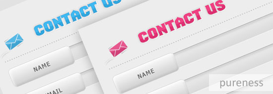Post image of Pureness – Free Contact Form Design/Interface (PSD)