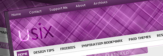 Usix Wordpress Theme – Free Premium Purple Theme
