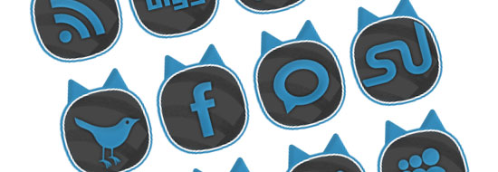 Post image of Cat-Ears – Free Social Bookmark Buttons & Logo [PSD + PNG]
