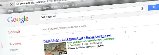 "Post image of Celebrating Christmas with Google – ""Let It Snow"""