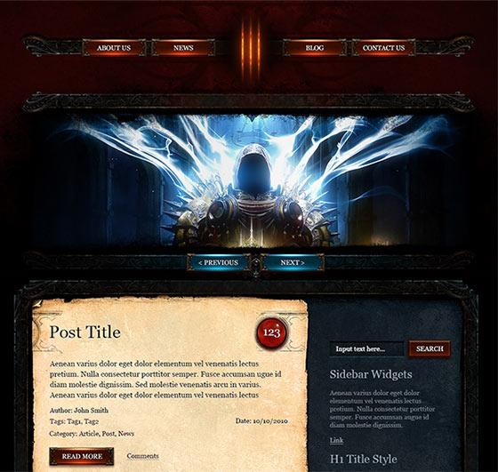 Diablo 3 PSD Template