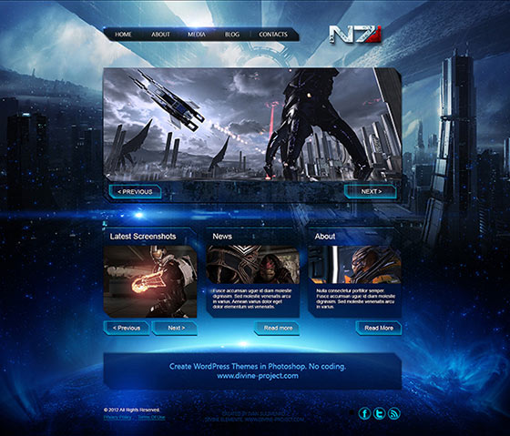Mass Effect 3 PSD Template